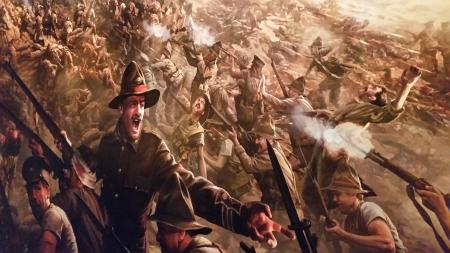 Chunuk Bair Painting Te Papa The Scale of our War Exhibition