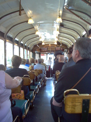 Inside the Christchurch City Tram